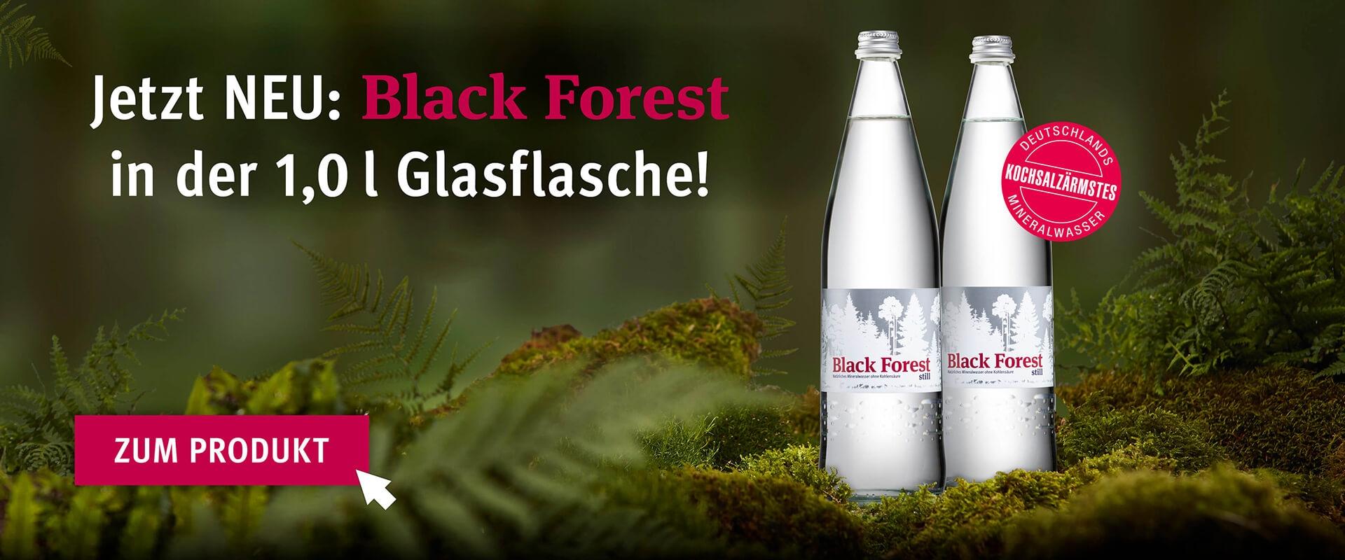 Black Forest still 1,0L Glas